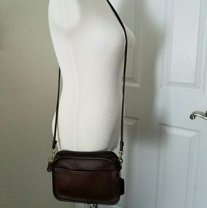 Vintage Coach Clutch Crossbody Leather Brown Bag
